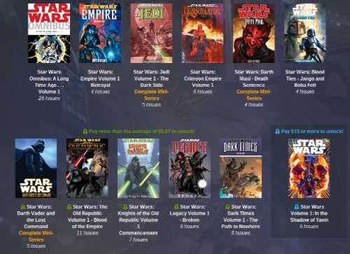 Humble Star Wars Comics Bundle